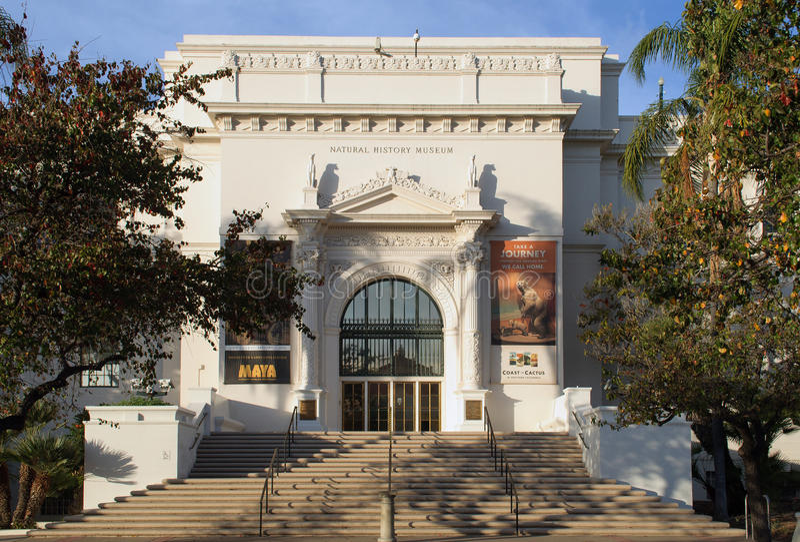 San Diego muzeum historia naturalna obraz royalty free