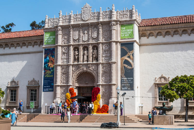 San Diego muzeum sztuki w balboa parku obraz stock