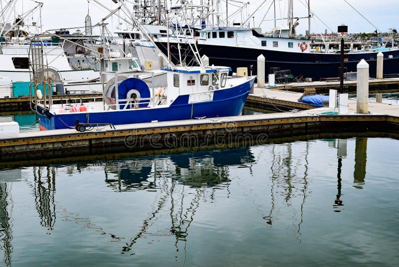 San Diego nabrzeża łodzie rybackie zdjęcie stock