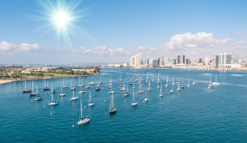 San Diego nabrzeże i linia horyzontu zdjęcia royalty free