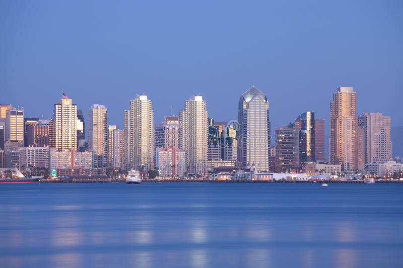 Download San Diego at night stock image. Image of urban, downtown - 14004081