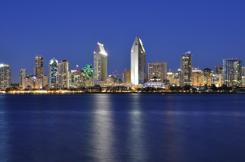 San Diego at night royalty free stock image
