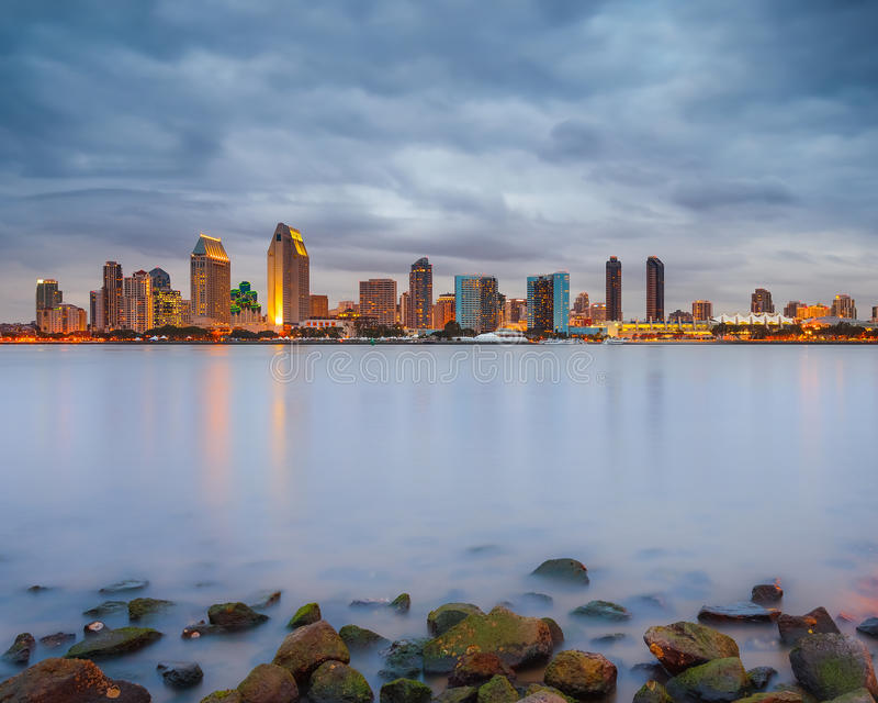 Download San Diego at night stock image. Image of downtown, night - 34789445