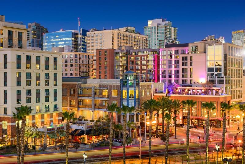 San Diego Nightlife District imagens de stock royalty free