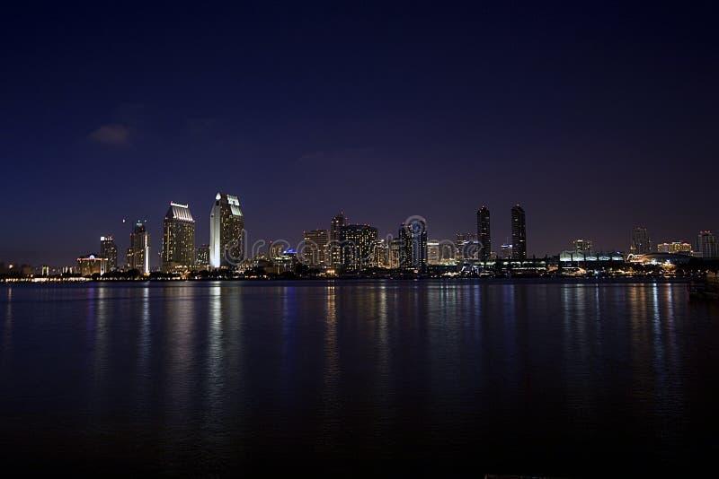 San diego nocy linia horyzontu zdjęcie stock