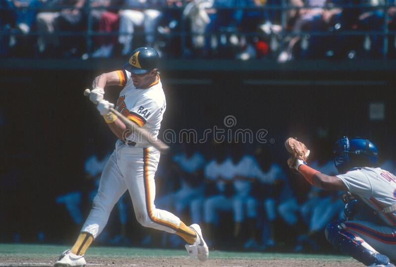 Tim Flannery. San Diego Padres infielder Tim Flannery.  Image taken from color slide royalty free stock images