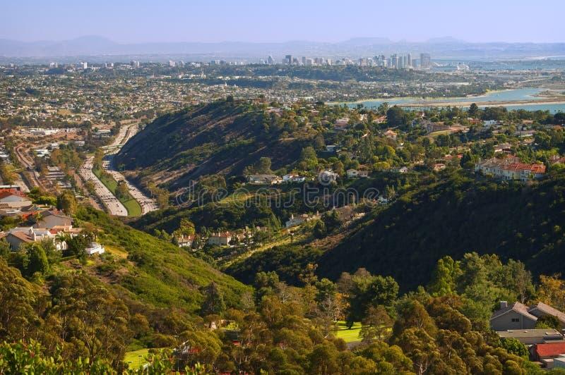 San Diego panoramique, la Californie photos libres de droits