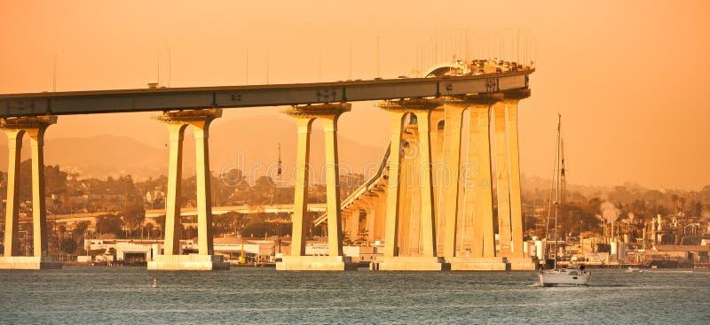 San Diego - passerelle de Coronado photos libres de droits