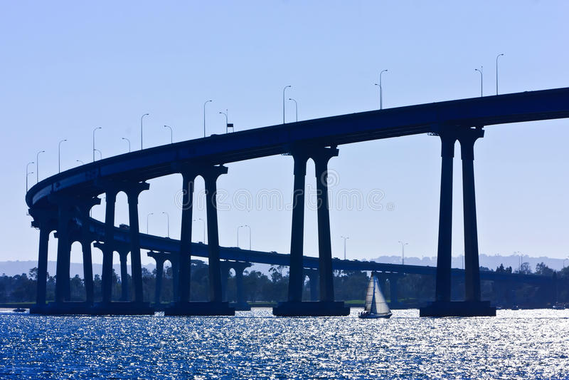 San Diego - passerelle de Coronado photo stock