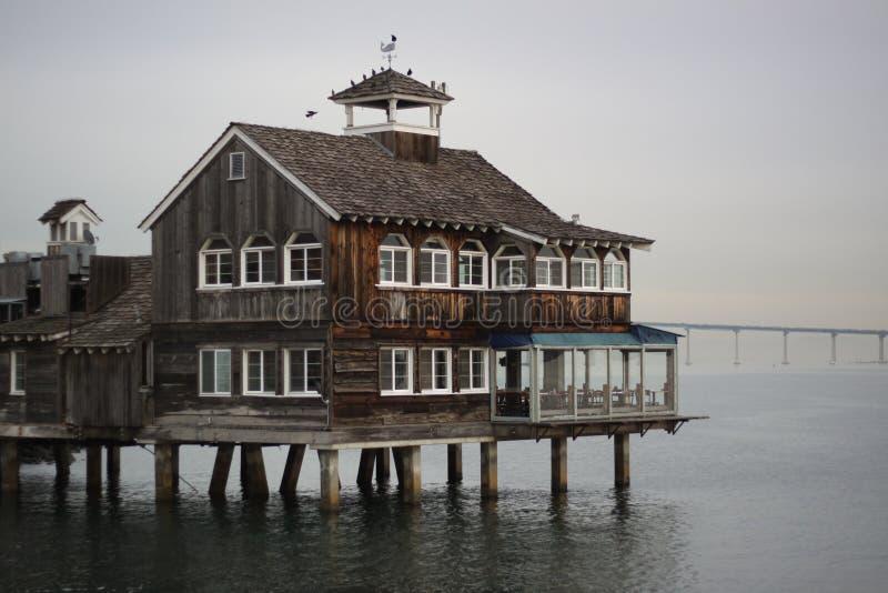 San Diego Pier Cafe fotografie stock