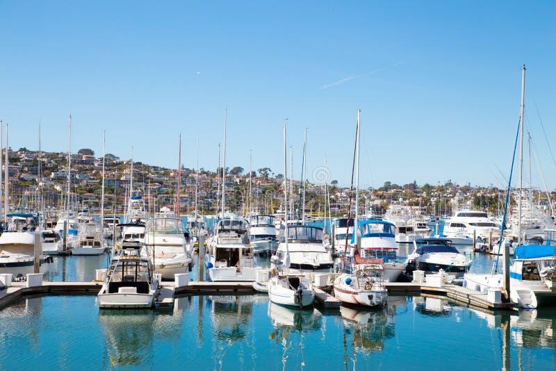San Diego point loma łodzie fotografia royalty free