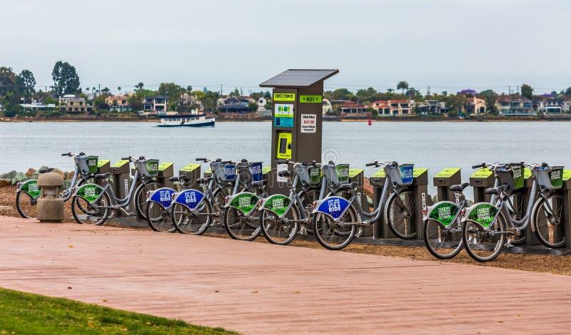 San Diego roweru wynajem fotografia royalty free