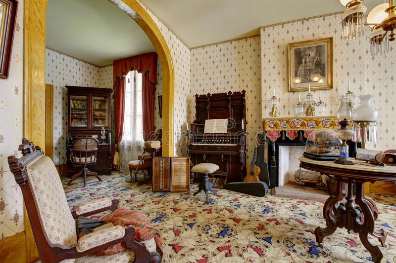 San Diego's haunted house. Whaley House Museum, old town stock photo