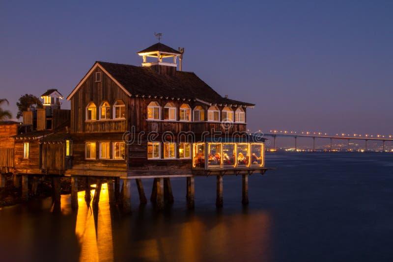 San Diego Seaport Village Sunset photo stock