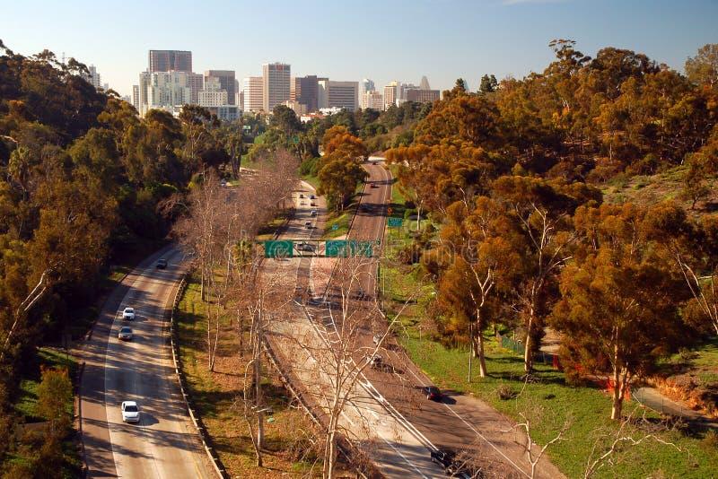 San Diego, según lo visto de parque del balboa fotos de archivo