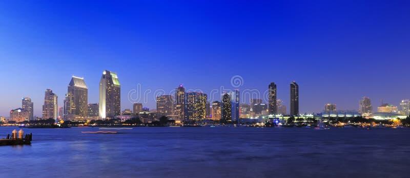 Download San Diego skyline stock image. Image of night, panoramic - 10041129