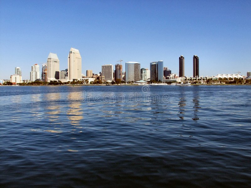 Download San Diego Skyline stock image. Image of buildings, water - 57389