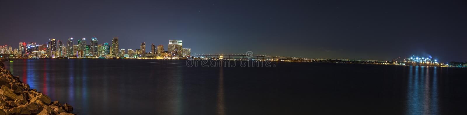 San Diego skyline. The San Diego downtown city line royalty free stock photography