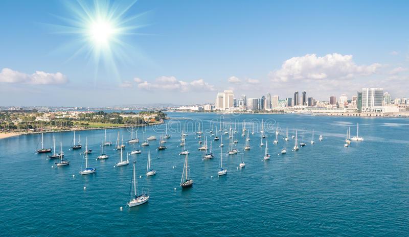 San Diego skyline and Waterfront royalty free stock photos