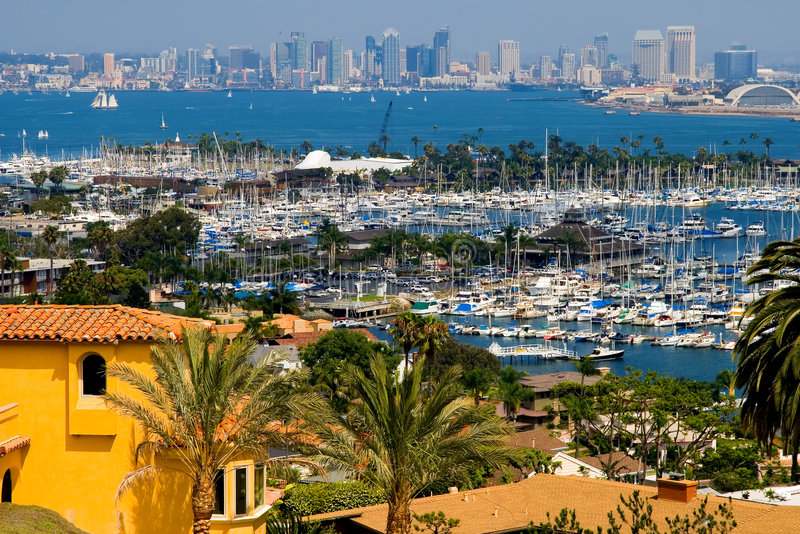 San Diego skyscrapers royalty free stock photography