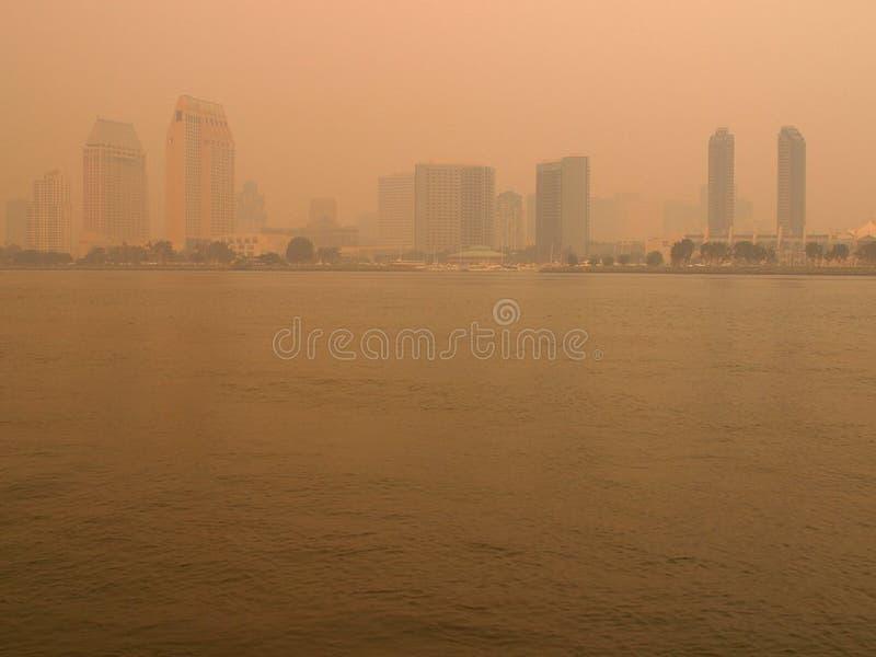 San Diego Smoke lizenzfreie stockfotografie