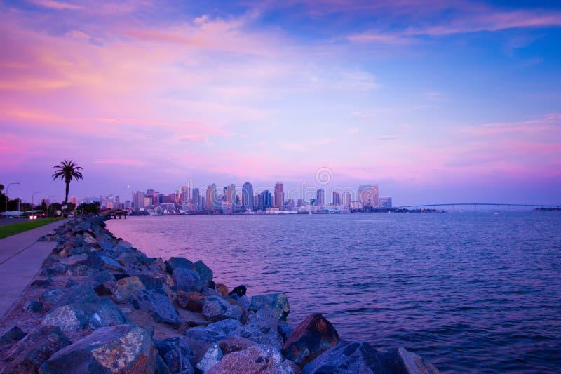San Diego solnedgång royaltyfria foton