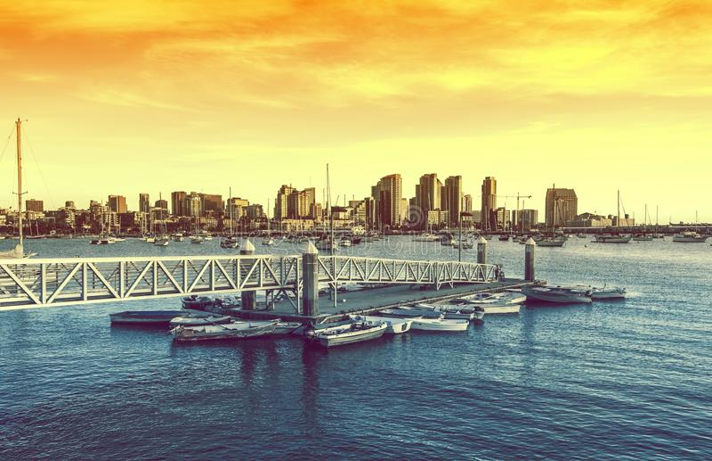 San Diego solnedgång royaltyfri bild