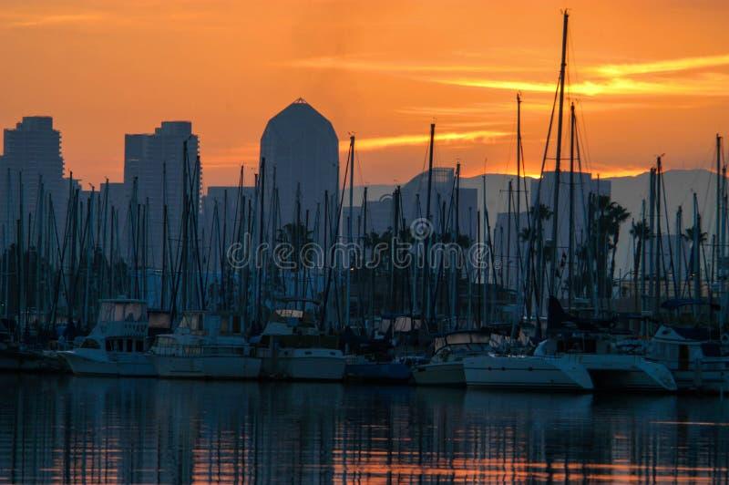 San Diego-Sonnenaufgang stockbilder