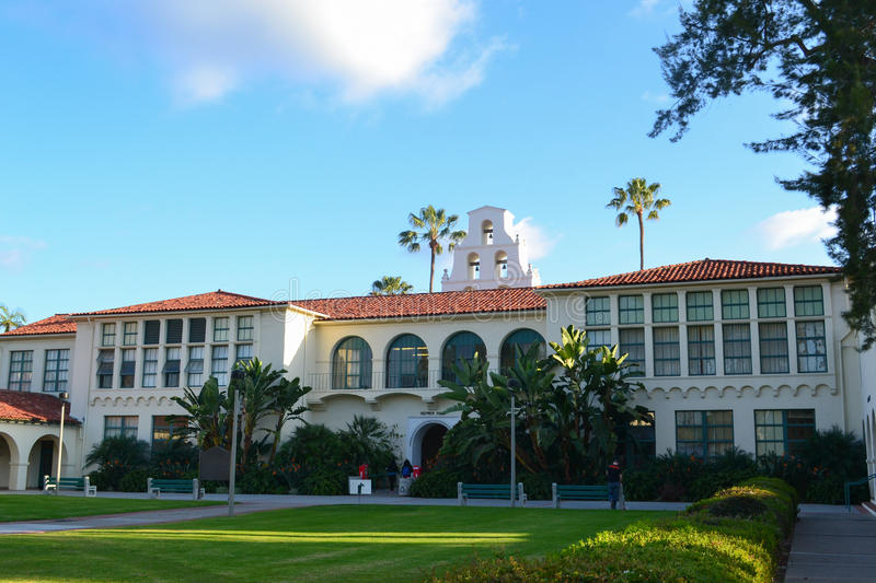 San Diego State University Campus stockbilder