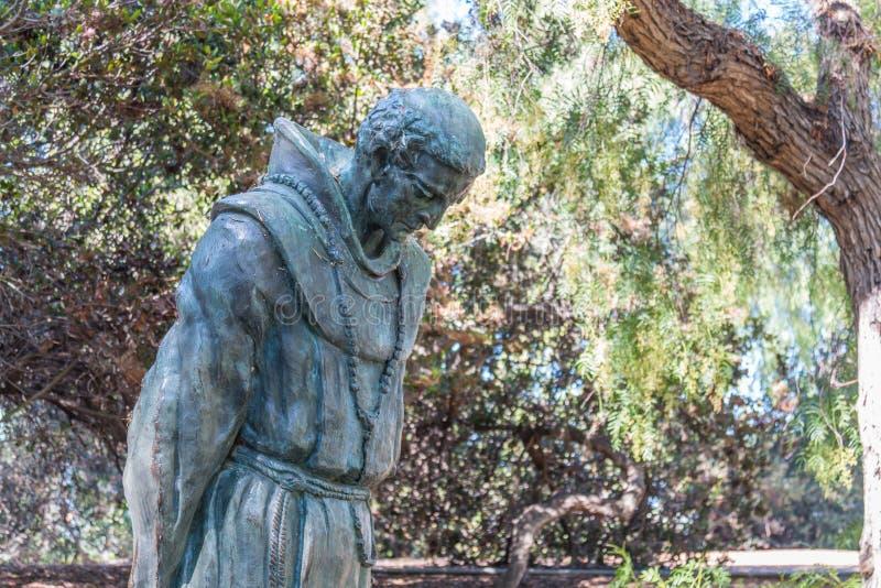 San Diego Statue van Vader Junipero Serra in Presidio-Park stock fotografie