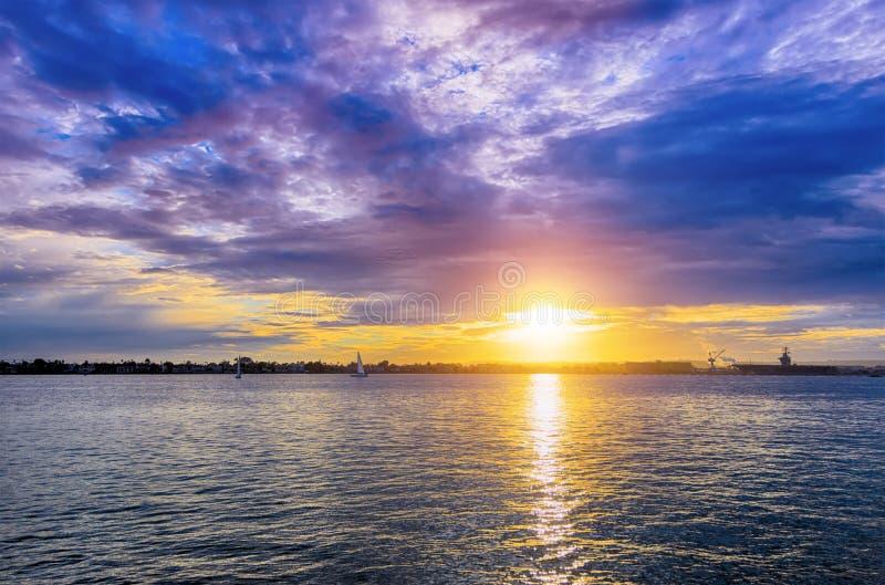 San Diego Sunset foto de archivo