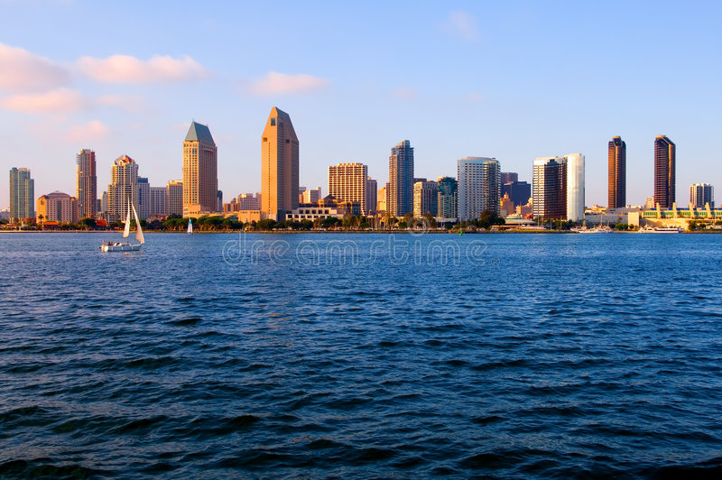 Download San Diego at sunset stock image. Image of boats, sail - 4555801