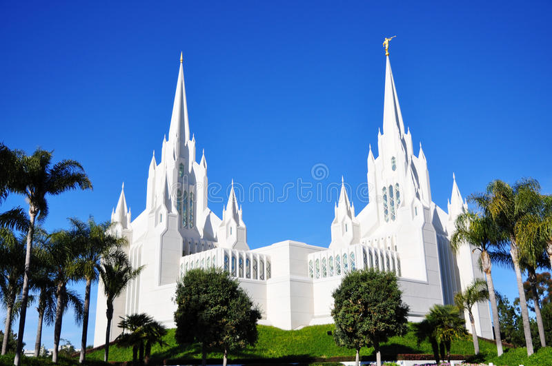 The San Diego Temple of Mormon royalty free stock image