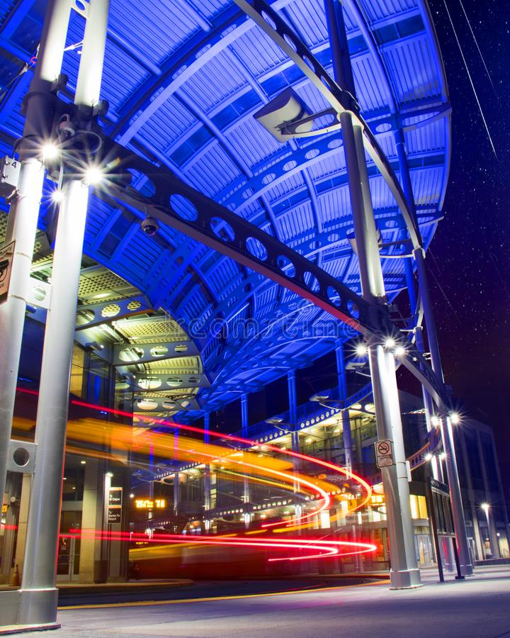 San Diego Trolley Station arkivfoto