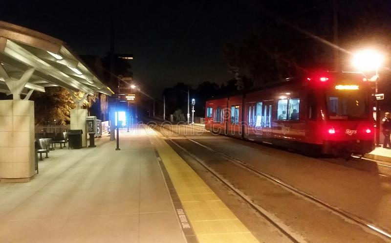 San Diego Trolley Station imagens de stock