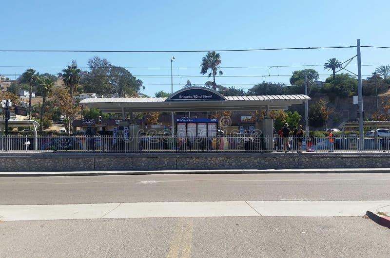 San Diego Trolley Station fotografia de stock