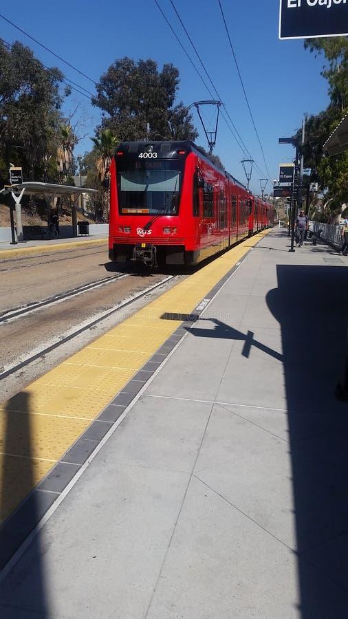 San Diego Trolley Station imagem de stock