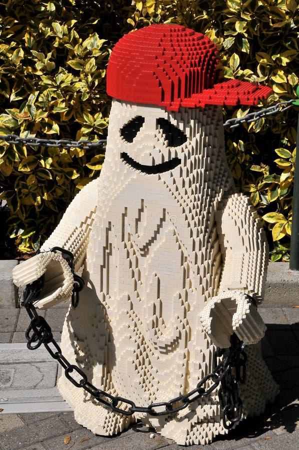 SAN DIEGO, USA - 23 september 2019: Uppgifter vid Legoland- resort för Halloween royaltyfri fotografi