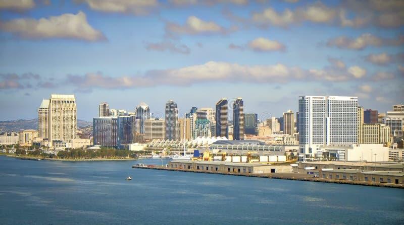 San Diego Vista, vue de pont, la Californie images libres de droits