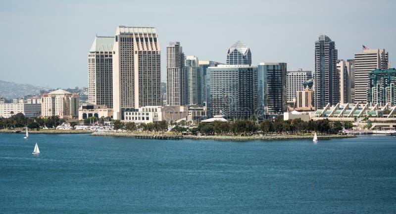 San Diego von den accoss die Bucht lizenzfreies stockbild