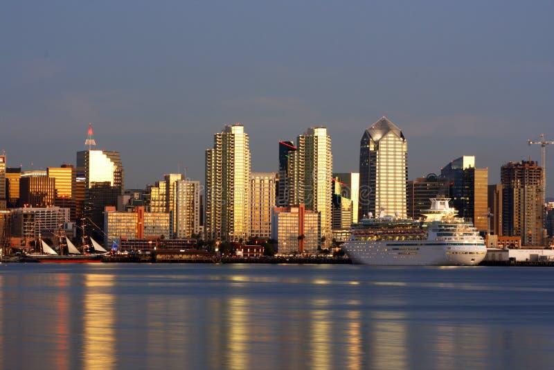 - San Diego w centrum linii horyzontu obrazy royalty free