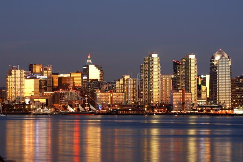 - San Diego w centrum skylin zdjęcie royalty free