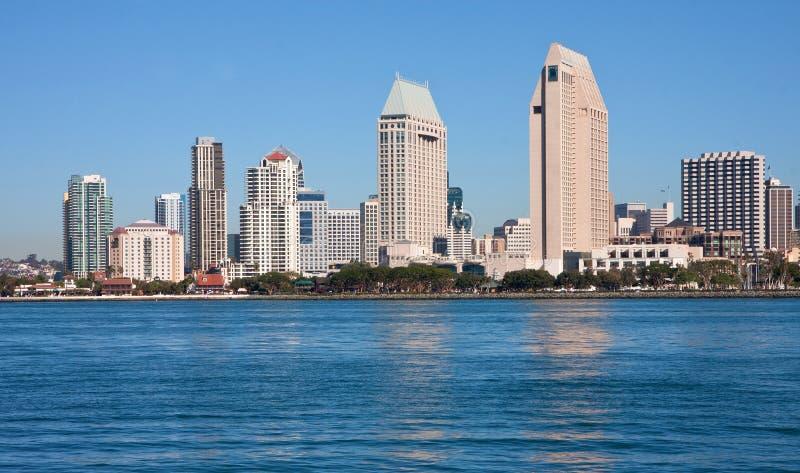 San Diego widok od Coronado zdjęcie stock