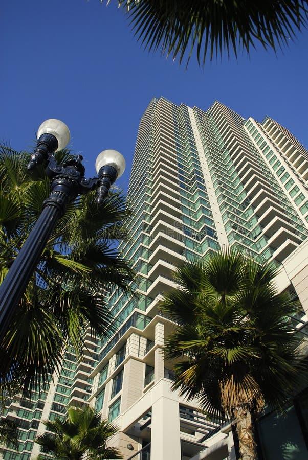 San diego wysokości high tower mieszkaniowy obraz stock