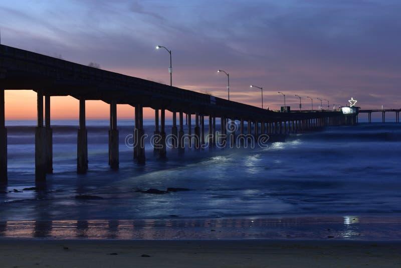 San Diego zmierzchu molo fotografia stock