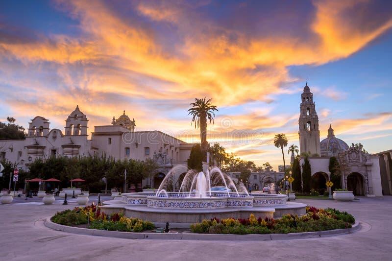 San Diegos Balboa-Park in San Diego California stockfotos