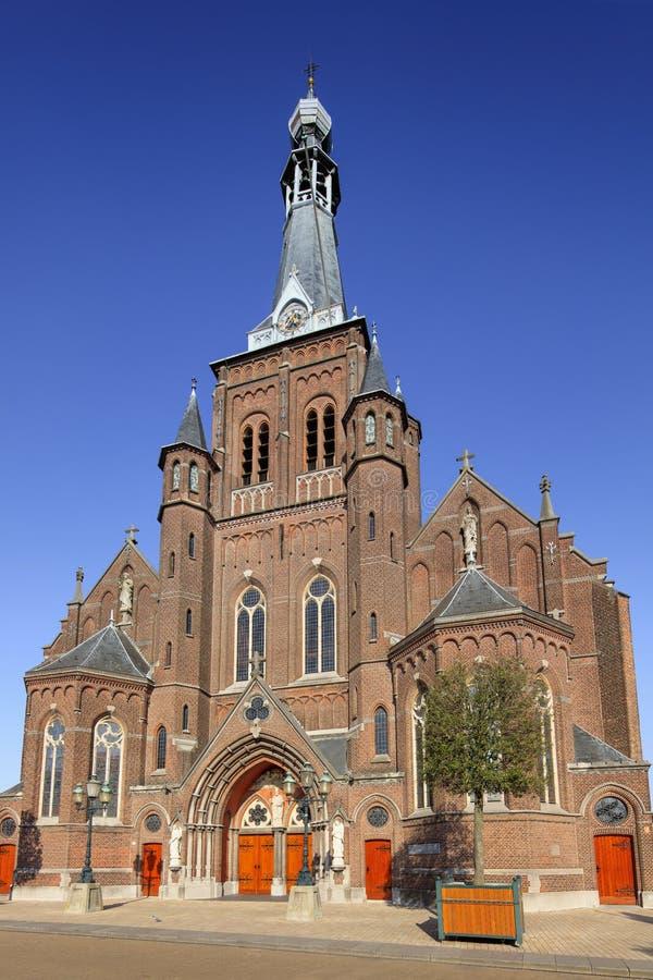 San Dionysius Church, conosciuto come la chiesa di Heikese, Tilburg, Paesi Bassi immagini stock libere da diritti