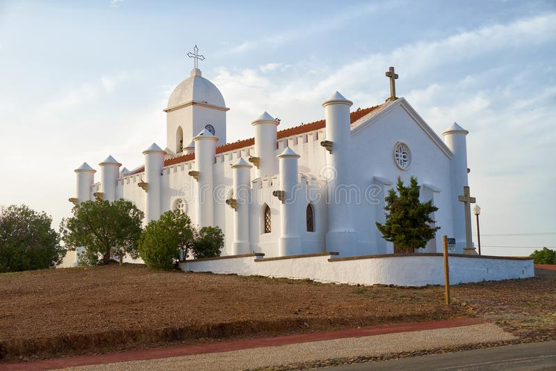 San Domingos kościół Corte robi Łaciatemu Mertola Alentejo, Portuga fotografia stock