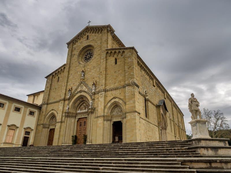San Donato cathedral in Arezzo, Tuscany royalty free stock photography