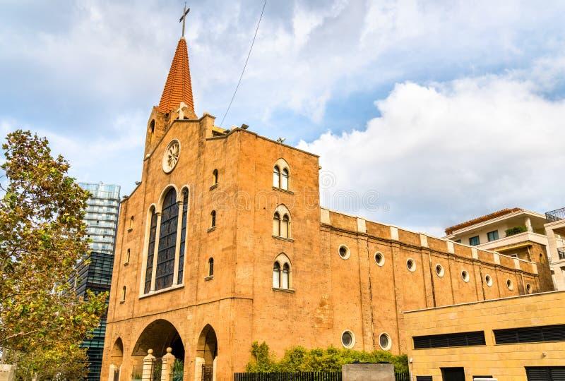 San Elias Maronite Church a Beirut, Libano fotografia stock libera da diritti